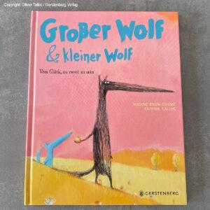 Schlafraubtiere_Glück_zu_zweit_Buch_Großer_Wolf_Kleiner_Wolf_credits_Olivier_Tallec_Gerstenberg_Verlag_2 Kopie